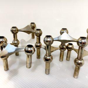 Chrome Modular Candleholders, Fritz Nagel