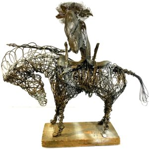 Don Quixote Wire Sculpture