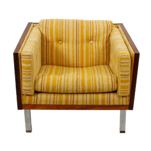 Milo Baughman Style Rosewood Case Sofa & Chair Set by Jydsk, Denmark