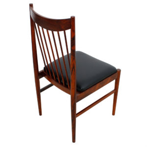 Rare Set 6 (2 Arm + 4 Side) Arne Vodder – Helge Sibast Rosewood Dining Chairs