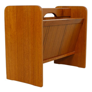 Pair of Portable Danish Teak Magazine Racks