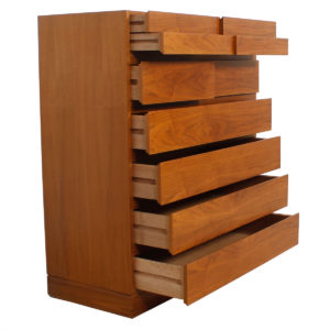 Danish Modern Tall Walnut 'Organizer Dresser'