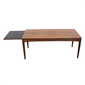 Expanding Coffee Table — Danish Modern Rosewood