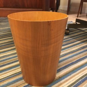 Small Swedish Modern Teak Waste Basket
