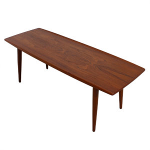 Splayed Leg Danish Teak 'Surfboard' Coffee Table
