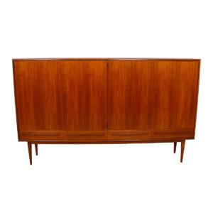 Rare Colossal Danish Teak Highboard / Bar / Shallow Storage Cabinet