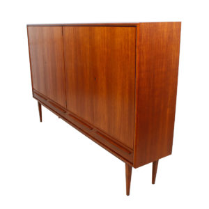 Rare Colossal Danish Teak Highboard / Bar / Shallow Storage Cabinet