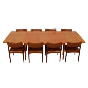 Rare Danish Teak Expanding Dining Table by Poul Cadovius
