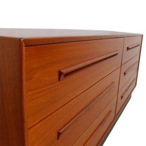 Danish Modern Teak Westnofa of Norway 6 Drawer Dresser