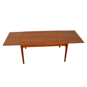Early Vejle Stole Danish Teak Expanding Dining Table
