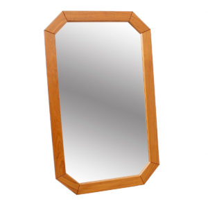 Octagonal Danish Modern Teak Mirror