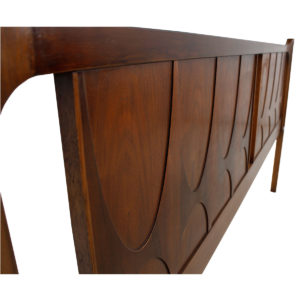 Mid Century Modern Walnut Brasilia King Headboard