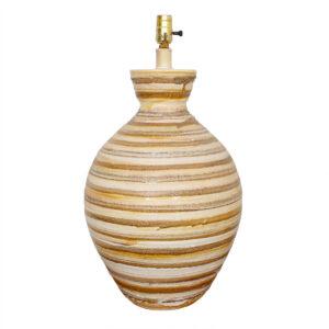 Vintage 'Beehive' Striped Lava-Textured  Lamp
