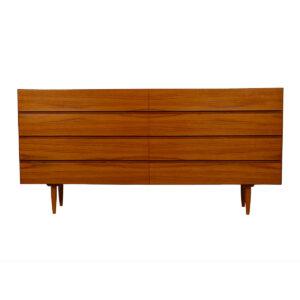 Danish Modern Long 8 Drawer Dresser
