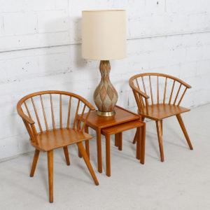 Pair of Conant Ball Accent / Dining Arm Chairs