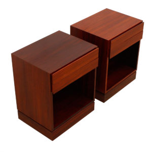 Arne Wahl Iversen Rosewood Split-Drawer Night Stands