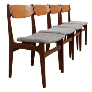 Set of 4 Danish Teak Dining Chairs