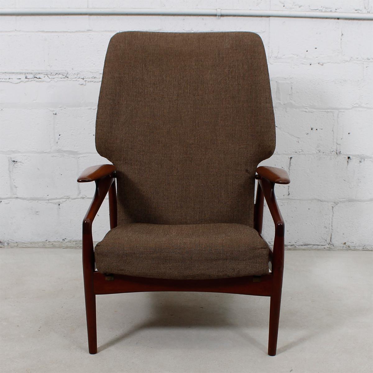 Danish modern wingback chair - Danish Modern Teak Finn Juhl Reclining Wingback Chair