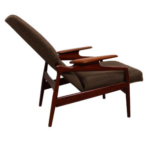 Danish Modern Teak Finn Juhl Reclining Wingback Chair