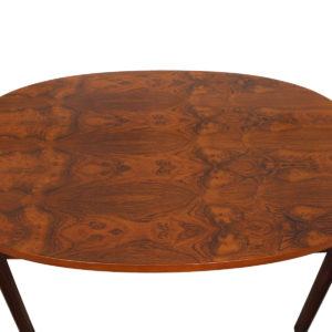 Large Rare Rosewood Coffee Table with Remarkable Grain