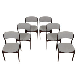Set of 6 Erik Buch Danish Modern Rosewood Dining Chairs