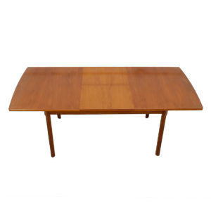 English Modern Walnut Expanding Dining Table w/ Butterfly Leaf