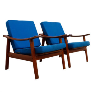 Rare Pair of William Watting Danish Teak Easy / Lounge Chairs