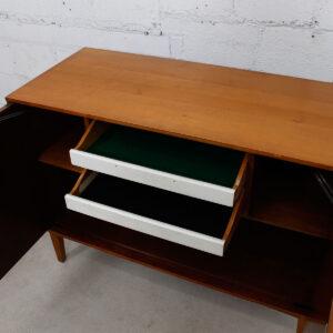 Milo Baughman Solid Birch 1950's Bar / Storage Cabinet
