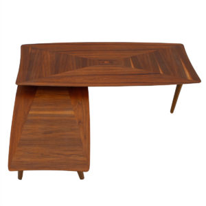 Expanding Mid Century Walnut Coffee Table