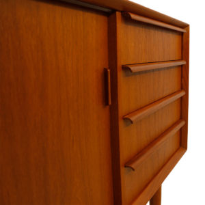 Danish 2-Piece Teak Sideboard w/ Display Top by Falster