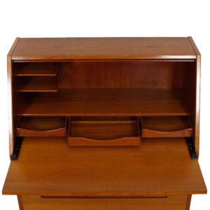 Danish Modern Teak Drop Front Secretary / Desk