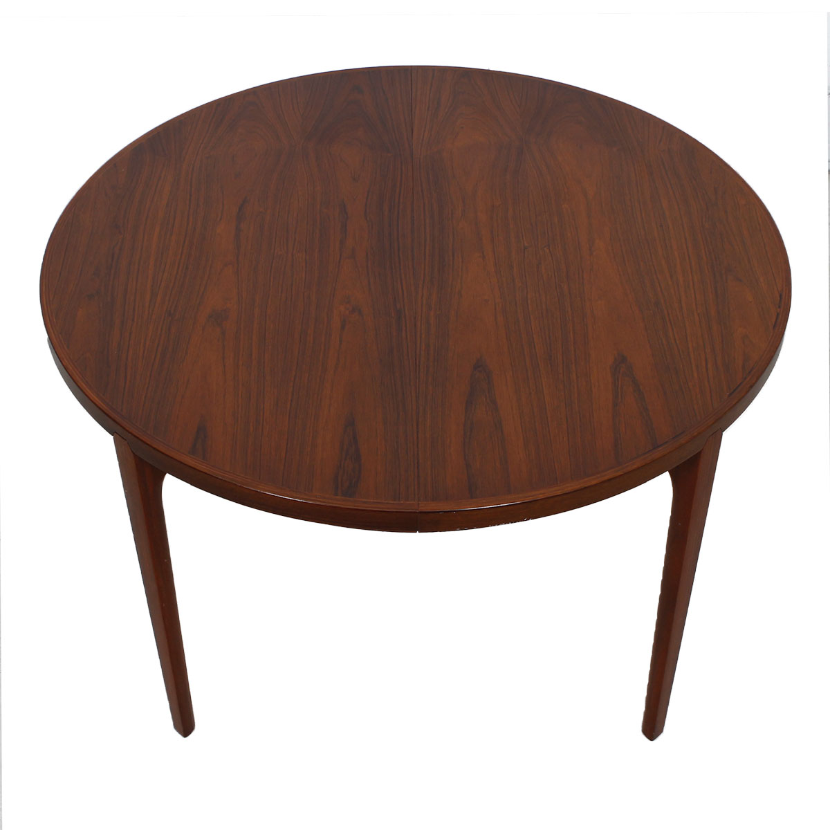 Danish Rosewood Round To Oval Expanding Dining Table