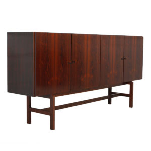 Luxurious Danish Modern Long & Sleek Rosewood Highboard