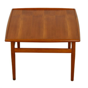 Grete Jalk Teak Square End / Accent / Coffee Table w/ Raised Lip Top
