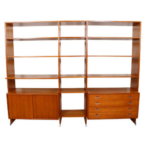 Hans Wegner Danish Teak Adjustable (2-3 Column) Wall Unit / Room Divider for Ry Mobler