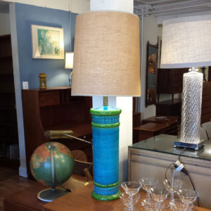 Blue and Green Bitossi Table Lamp