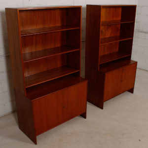 Rare Pair of Danish Teak Storage / Display Cabinets by Borge Mogensen