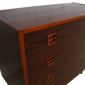 Compact Danish Rosewood 4 Drawer Chest w/ Legs