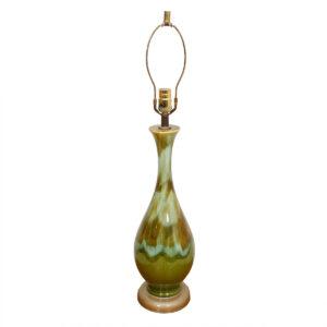 MCM Ceramic Lamp with Blue & Green Glaze