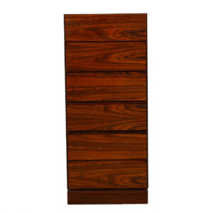 Iversen Super Slim & Tall 8 Drawer Rosewood Lingerie / Jewelry Chest