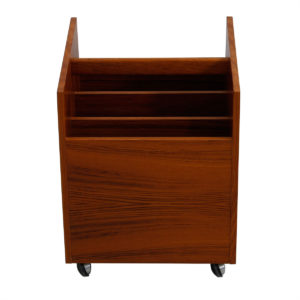 Teak Rolling Magazine, LP / Vinyl Records Cart