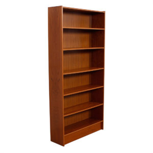 Danish Modern Teak Tall Adjustable Shelf Bookcase