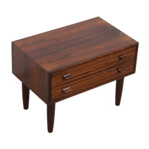 Danish Rosewood Petite 2-Drawer Nightstand / Accent Table