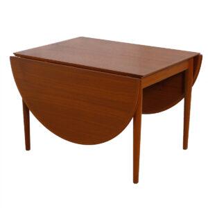 Super Expanding Arne Vodder Compact Teak Dining Table