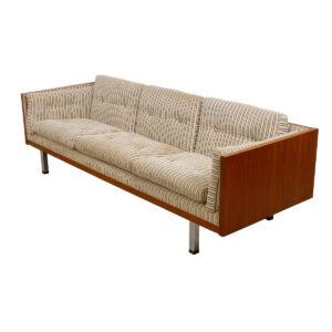 Jydsk of Denmark, Milo Baughman Style Teak Case Sofa