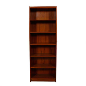 Deep & Tall Danish Teak Adjustable Bookcase – Vinyl Storage