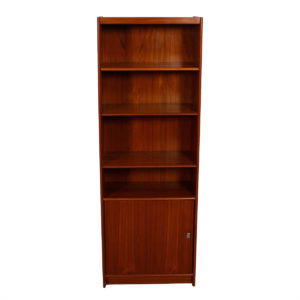 Deep Danish Teak Adjustable Bookcase / Vinyl Storage