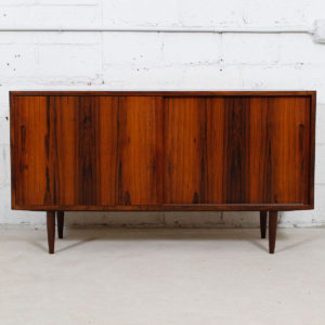 Condo Sized (54.5″) Danish Rosewood Sideboard / Media Cabinet by Hundevad