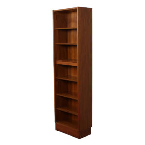 Custom Super-Slim & Tall Hundevad Danish Teak 21.75″ Lighted Adjustable Bookcase