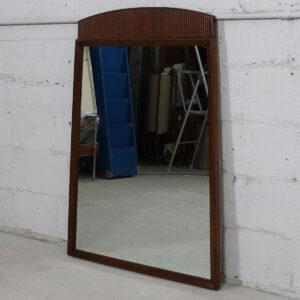Walnut Mid Century Trapezoidal Mirror